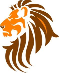 Lion Head Color Clip Art
