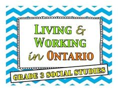Living and Working in Ontario - Research Booklet Third Grade, Grade 2, Social Studies Curriculum, Help Teaching, Student Work, Small Groups, Research, Booklet, Ontario