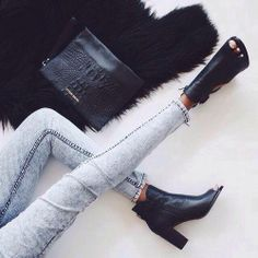 Get inspired with spring style. #booties #skinnyjeans