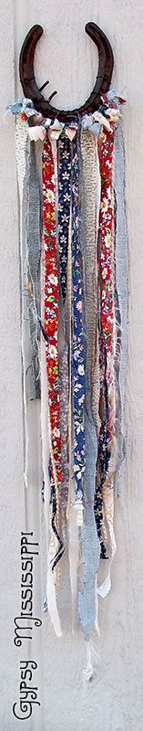 Boho Gypsy Hippie Horseshoe Fabric Wall by GypsyMississippi