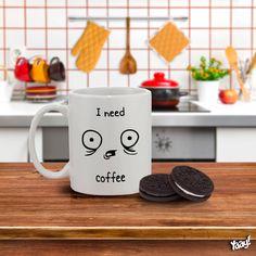 Caneca I Need Coffee :: Hmmm