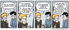 PHD Comics: Why Postdocs are always sweating