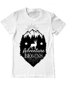 Tricou Adventure Begins Camping, Mens Tops, T Shirt, Design, Women, Fashion, Eagle, Campsite, Supreme T Shirt