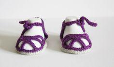 Baby Sandalen von Die Wollpiratin auf DaWanda.com
