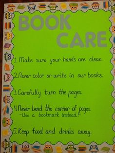 how to take care of books in the library