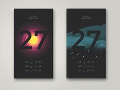 """Weather App inspiration via Muzli. """"What the heck is the story with weather apps?"""" is published by Muzli in Muzli - Design Inspiration. App Ui Design, Mobile App Design, Web Design, Graphic Design, Typography Logo, Typography Design, Logos, What The Heck, Music App"""