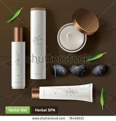 Herbal SPA. Vector set