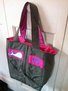 Custom Kiddie Tote with upgraded embroidery by, FlyBagz®