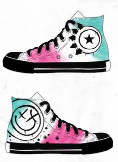 "artwork ""converse custom blink182"" by {____LA10ZGN____}, via Flickr"