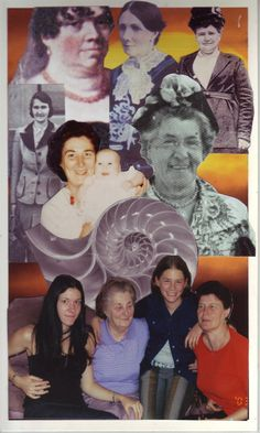 Soul card: My female lineage - collage from photos and magazines - by Maz