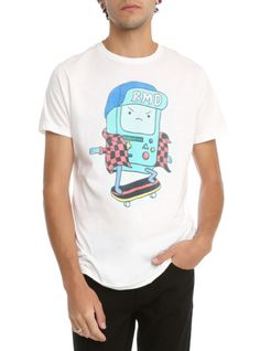 Adventure Time BMO Skateboarding T-Shirt | Hot Topic
