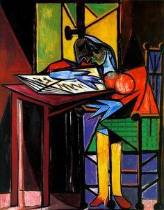1935 Picasso Femme lisant, Woman reading Huile sur Toile 161,5x129,5 cm. #Cubismo #Art #XXs @deFharo