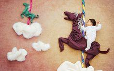 Fotógrafa recria sonhos de aventuras com filho dorminhoco - Filhos - iG