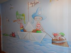 Boy Room, Kids Room, Sea Murals, Playroom Mural, Murals For Kids, Baby Wall Art, Mural Painting, Fashion Room, Room Themes