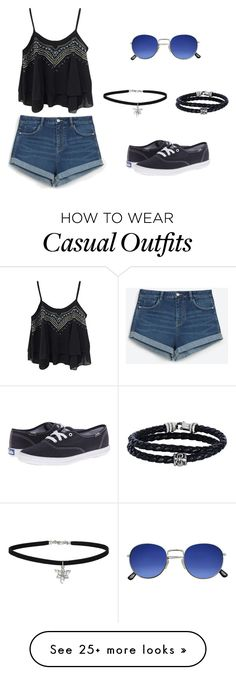"""""""casual// again"""" by nicmd on Polyvore featuring WithChic, Zara, Phillip Gavriel, Miss Selfridge and Keds"""