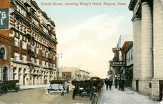 Scarth street, showing King's Hotel, Regina, Sask. | saskhistoryonline.ca