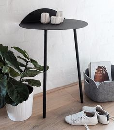 Menu Yeh Wall Tall in black! A space saving table perfect for small rooms or entryways.