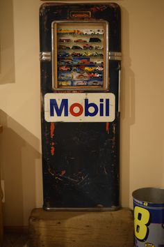 Hot Wheels display case I made from a Bowser model 585 gas pump door.