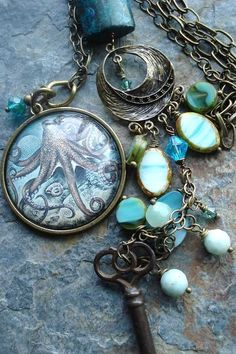 OCTOPUS GARDEN, Vintage Skeleton Key Necklace