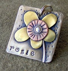 Custom dog tag personalized mixed metal tag for by DoggoneTags, $25.00