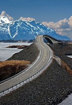 Atlantic Ocean Road, Norway.  I could have some fun on that road.