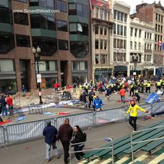 Boston Marathon Grandstands Susan B Mead