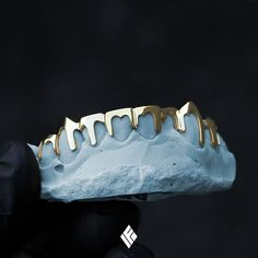 Gold Drip Grill Customized To Your Color Of Choice. Now Available on www.IFANDCO.com #Grillz #Drip #CustomJewelry #IFANDCO #GoldJewelleryShoot