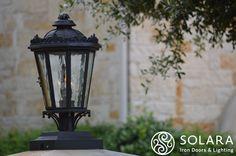 Solara Iron works provides many elegant lighting options, even Custom Work!