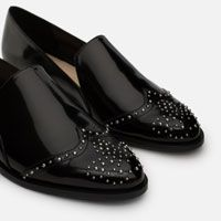 Image 6 of FLAT SHOES WITH STUDS from Zara
