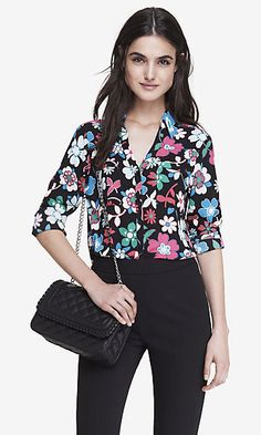 The Portofino is going floral! Check out all the new prints for #Express' top selling top!