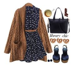 """""""Library chic"""" by meyli-meyli ❤ liked on Polyvore featuring Giorgio Armani and LAQA & Co."""