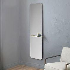 West Elm, Floating Shelf Floor Mirror, $300