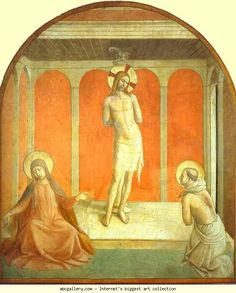 Fra Angelico. Flagellation. c.1441. Fresco, 105 x 142. Museo di San Marco, Cell 27, Florence, Italy.