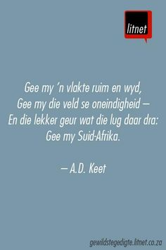 """Maar een Suid-Afrika"" deur A. Me Quotes, Qoutes, Afrikaanse Quotes, Making Words, Creative Lettering, Felt Hearts, True Words, Favorite Quotes, Verses"