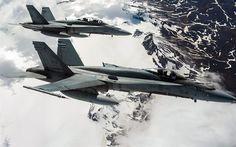 Descargar fondos de pantalla McDonnell Douglas CF-18 Hornet, Cazas, aviones militares, la Fuerza Aérea de Canadá