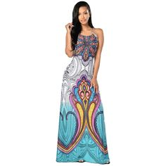 Find More Dresses Information about 2016 Fashion Floor Length Dress Women Sexy Long Maxi Dresses Halter Backless Tribal Print Vestido Bech Vestidos club wear,High Quality dresses casual wear,China wear shopping Suppliers, Cheap dress shose from Hey Girl on Aliexpress.com