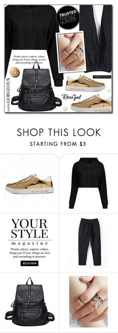"""""""Black and Gold (Rosegal 60)"""" by adnaaaa ❤ liked on Polyvore featuring Pussycat, gold, black and rosegal"""