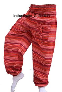 e07b583939d Cotton Hippie Harem Pants Gypsy Baggy Yoga Afagani Genie Indian Aladdin  Trousers  HaremPants  Harem