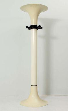 BBPR; ABS Plastic and Bakelite Prototype Coat Rack/Floor Lamp for Kartell, 1970s.