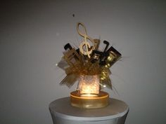 lighted gold musical centerpiece