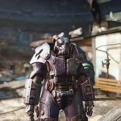 Further back to show off #fallout #gaming #enclave #powerarmor #enb