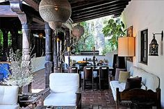 It's not a Moroccan patio without three styles of lanterns. #refinery29 http://www.refinery29.com/jason-statham-selling-los-angeles-home#slide-11