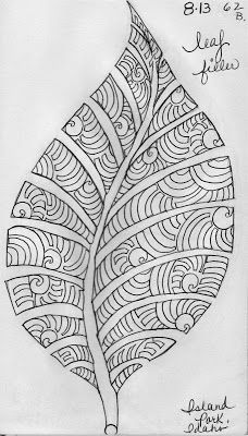 The last of the Leaf Designs from my Quilting Sketch Book:                These leaves were inspired...