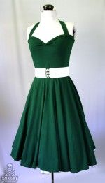 I love so much of the stuff on this site, and you can custom order stuff..   emerald green Yvonne retro rockabilly swing dress