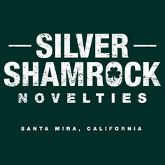 "Silver Shamrock Novelties t-shirt. Inspired by the 1982 movie ""Halloween III"". #tshirt #halloween #movie"