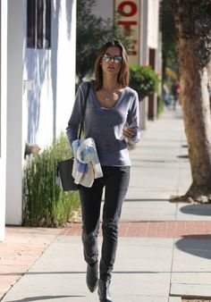 Alessandra Ambrosio - Out in Santa Monica, December 2015