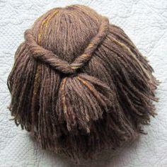 Waldorf doll hair tutorial by ~::jules::~, via Flickr