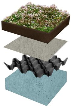 Learn more about the layers of a green roof at www.ecogreenroofs.co.uk