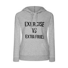Ally Fashion Extra fries hoodie ($15) ❤ liked on Polyvore featuring tops, hoodies, l grey, grey hoodie, grey hoodies, gray top, hooded pullover and gray hoodie