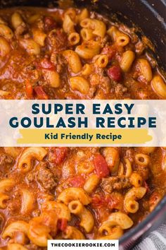 Simple to make and wonderfully comforting, this simple goulash recipe is loaded with flavor. Ready to serve in 35 minutes, it's a great weeknight meal that will be devoured in record time! Casserole Recipes, Pasta Recipes, Crockpot Recipes, Cooking Recipes, Hamburger Recipes, Easy Goulash Recipes, Easy Dinner Recipes, Easy Meals, Breakfast Recipes